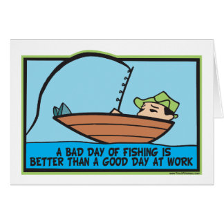 Funny Fisherman's Card