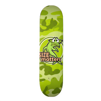 Funny Fishing; bright green camo, camouflage Skate Boards