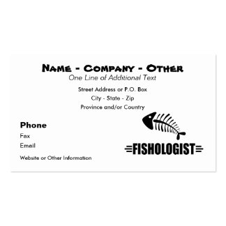 Funny Fishing Business Card Templates