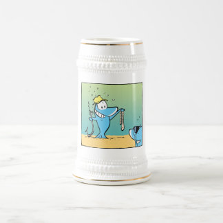 Funny Fishing Cartoon Beer Stein Mug