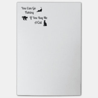 Funny Fishing Cat Post-It-Notes Post-it Notes