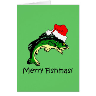 Funny fishing Christmas Card