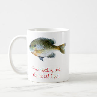Funny fishing coffee cut basic white mug