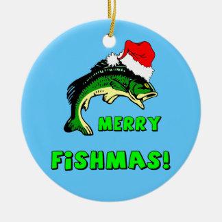 Funny fishing ornaments