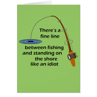 Funny Fishing Greeting Card