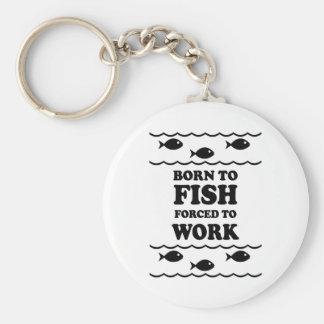 Funny fishing key ring