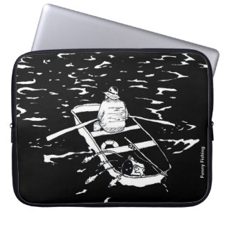 Funny Fishing Laptop Sleeve