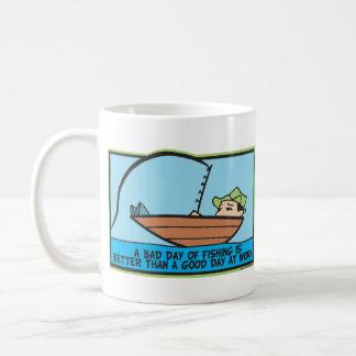 Funny Fishing Basic White Mug