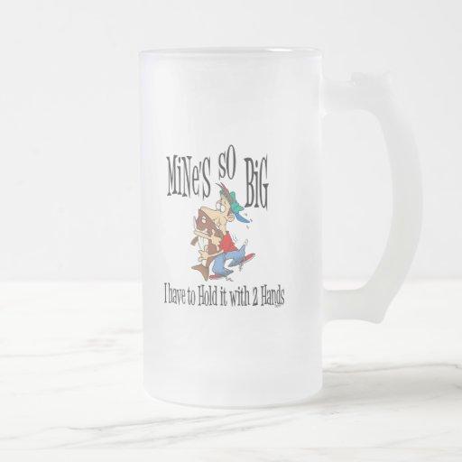 Funny Fishing Mug  Mine's So Big