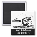 Funny Fishing Saying - Cartoon Graphic Refrigerator Magnet