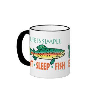 Funny Fishing Saying Ringer Mug
