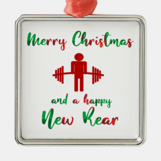 Funny Fitmas Merry Christmas Fitness Ornament