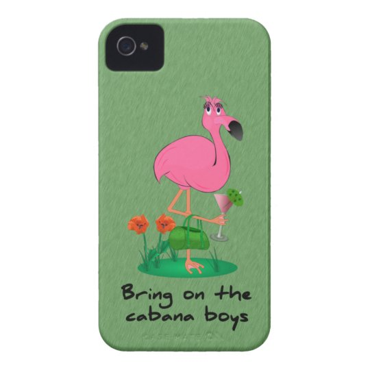 Funny Flamingo iPhone 4/4S Barely There Case