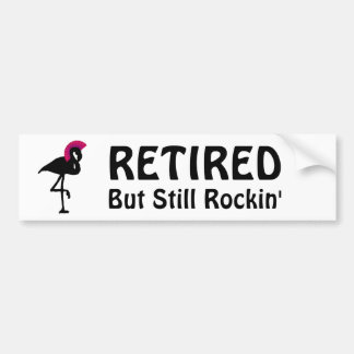 Funny Flamingo Retirement Bumper Sticker