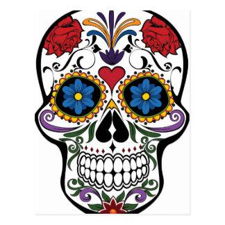Funny Floral Skull Postcard