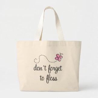 Funny Floss Dental Hygienist Tote Bag
