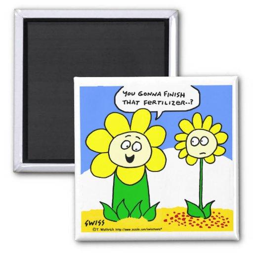 Funny Flower Cartoon Fridge Magnet
