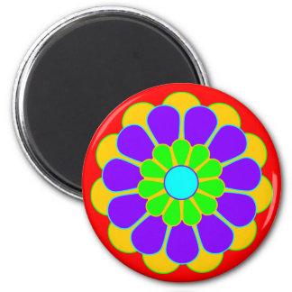 Funny Flower Power Bloom II Fridge Magnet