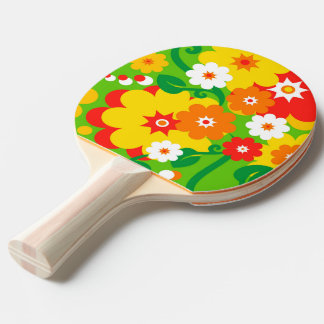 Funny Flower Power Wallpaper Ping Pong Paddle