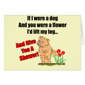Funny Flower Shower T-shirts Gifts Greeting Card