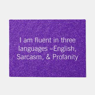 Funny Fluent In Three Languages Doormat