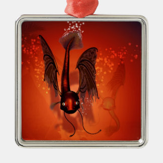 Funny flying fish christmas tree ornaments