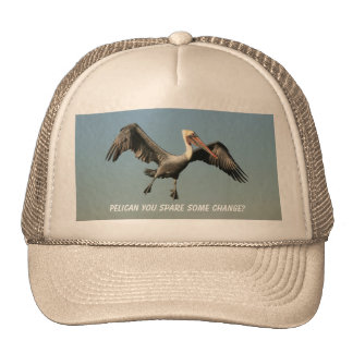 Funny Flying Pelican Trucker Hat Humor