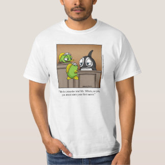 "Funny ""Foggy Bottom"" Cartoon Tee Shirt"
