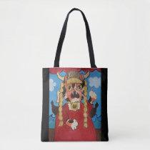 Funny Folk Art Opera Cat Tote Bag
