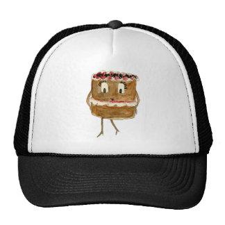 Funny food black forest gateaux novelty art hat