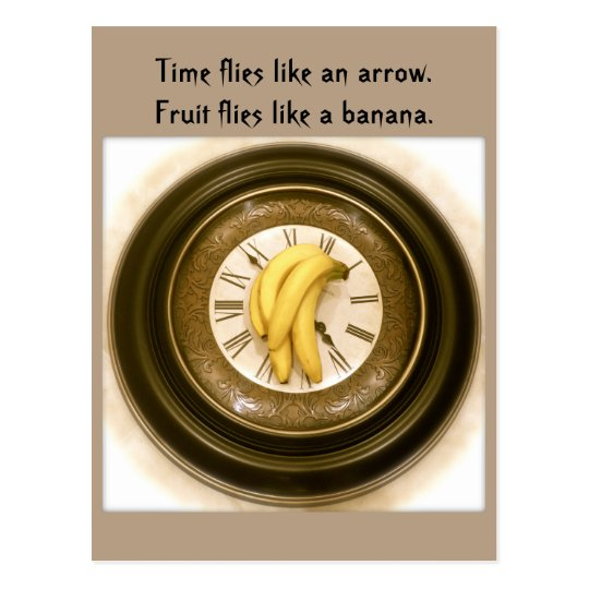 Funny food postcard, postcrossing, Time clock Postcard
