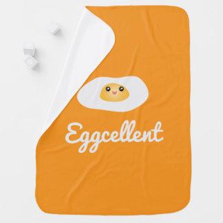 Funny Food Pun Cute Egg Eggcellent Humorous Unisex Baby Blanket