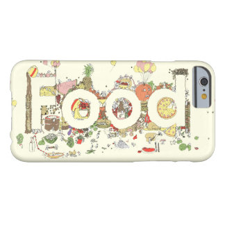 Funny Food Word Design Colourful Watercolour Art Barely There iPhone 6 Case