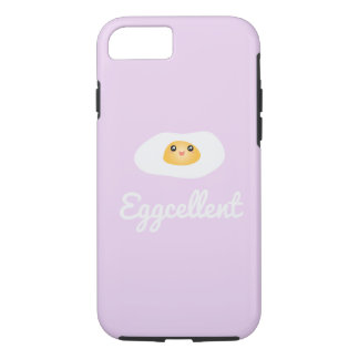 Funny Foodie Cute Egg Eggcellent Humorous Food Pun iPhone 8/7 Case