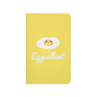 Funny Foodie Cute Egg Eggcellent Humorous Food Pun Journal
