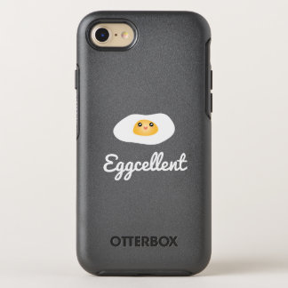 Funny Foodie Cute Egg Eggcellent Humorous Food Pun OtterBox Symmetry iPhone 8/7 Case