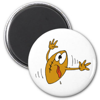 Funny Football 6 Cm Round Magnet