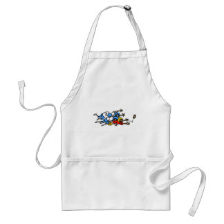 funny football humor tackle pile up graphic standard apron