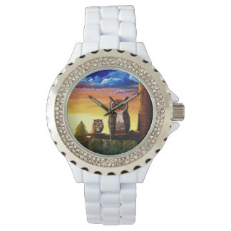 Funny Forest Owl Creationarts Watch