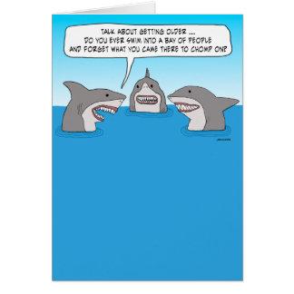 Funny Shark Cartoon Greeting Cards Zazzlecouk