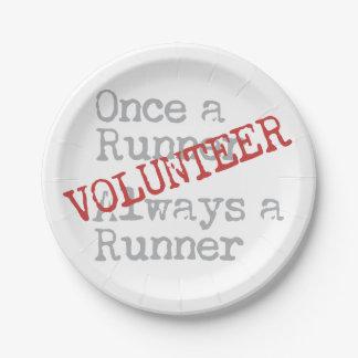 Funny Former Runner Volunteer 7 Inch Paper Plate