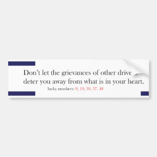 Funny Fortune Cookie Style Bumper Sticker Grief