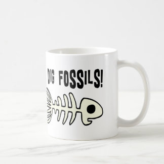 Funny Fossil Gift Item Basic White Mug