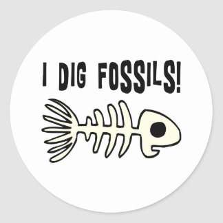 Funny Fossil Gift Item Round Stickers
