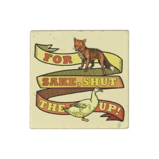 Funny Fox Duck Animal Pun Stone Magnet