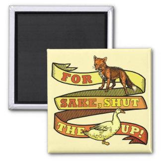 Funny Fox Duck Animal Pun Fridge Magnets