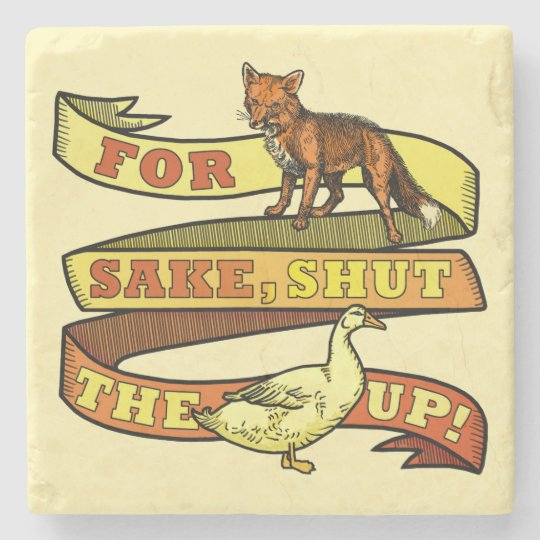 Funny Fox Duck Animal Pun Stone Coaster