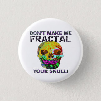 Funny Fractal Skull 3 Cm Round Badge