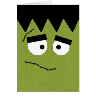 Funny Frankenstein Face for Halloween Card