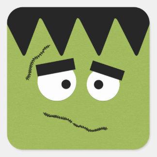 Funny Frankenstein Face for Halloween Square Sticker